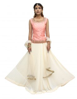 Embellished Stitched Lehenga Choli (Multicolor)