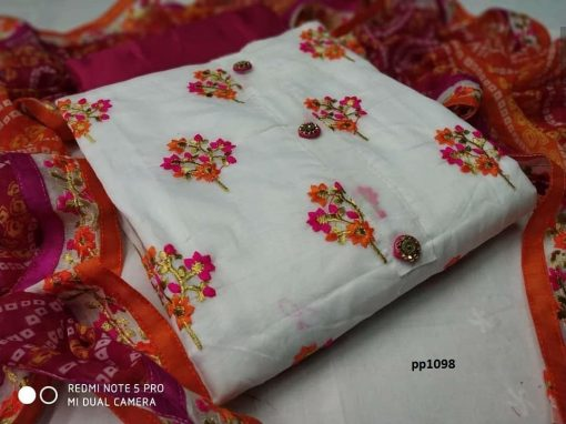 MODAL CHANDERI DRESS MATERIAL(05 Pcs Catalog)