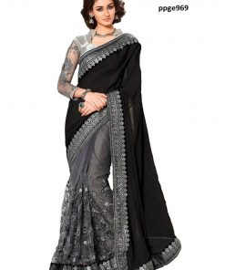 Georgette Net saree(5 Pcs Catalog)