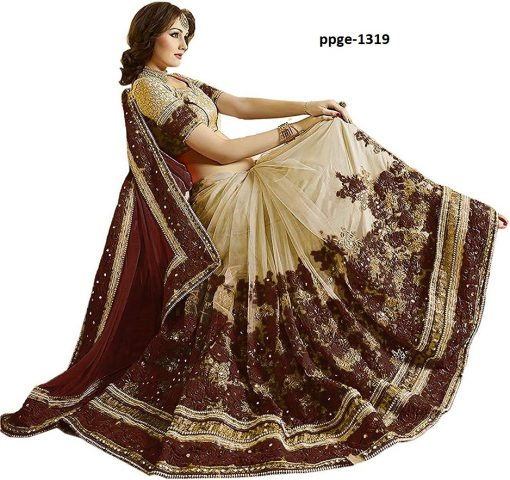 Fancy Brown Coloured Saree