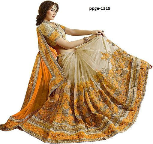 Fancy Yellow Coloured Saree